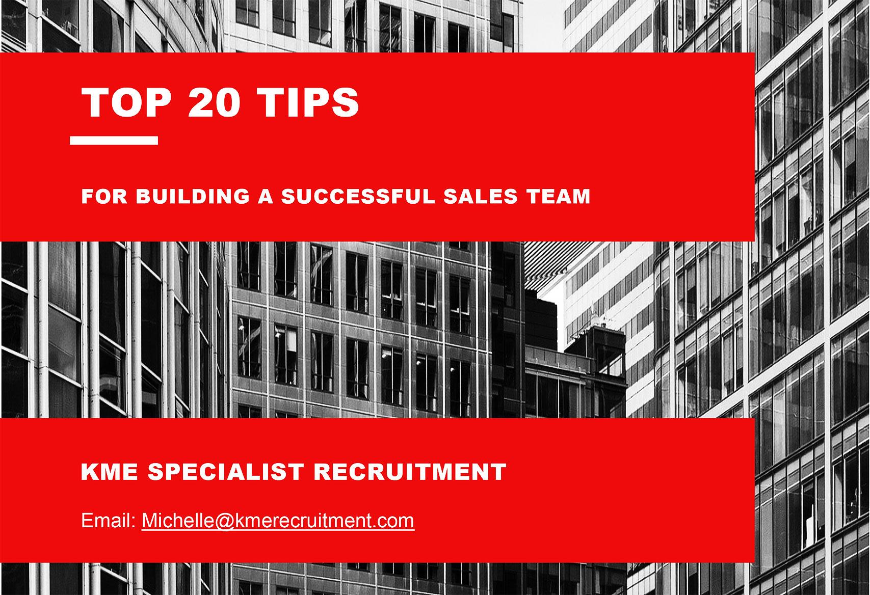 Free Top 20 Tips for Ensuring Your Sales Team are Generating Maximum Revenue