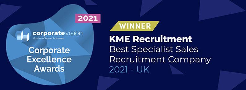 Corporate Excellence Awards Winner KME Recruitment 2021